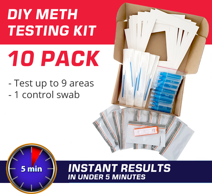 10 Pack DIY Meth Testing Kits